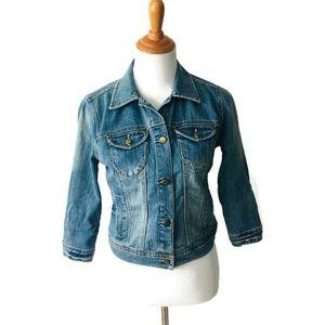 Forever Twenty One Women's Stretch Denim Jacket S
